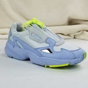 Adidas Falcon Zip and Lace Athletic Sneakers Blue